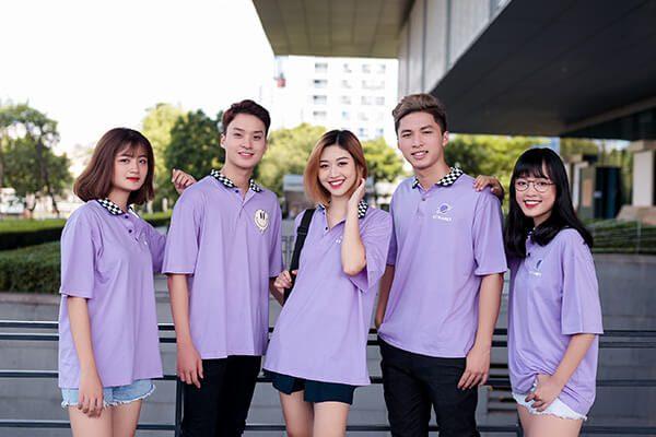 Áo đồng phục lớp dễ thương màu tím