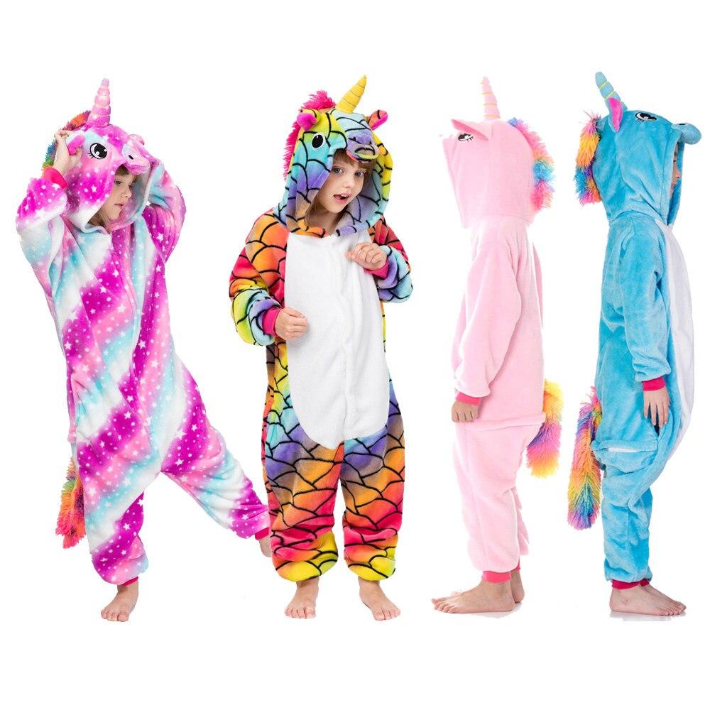 Pijama hình thú kỳ lân cầu vồng đa màu sắc