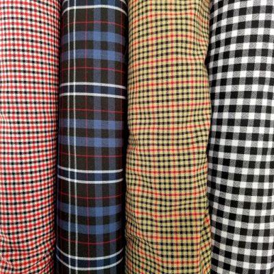 Vải caro trẻ trung, thích hợp sử dụng để may đồng phục cho học sinh