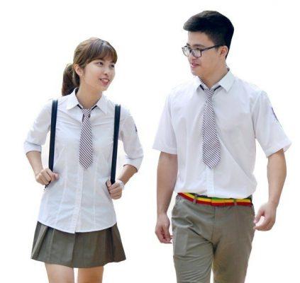 vải may áo đồng phục học sinh
