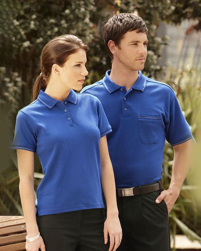 Áo thun đồng phục màu xanh trẻ trung