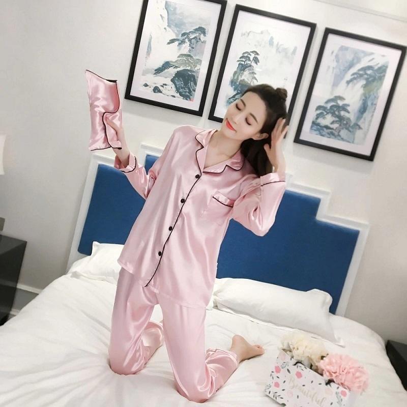Đồ ngủ pijama phi bóng cực kỳ mềm mại
