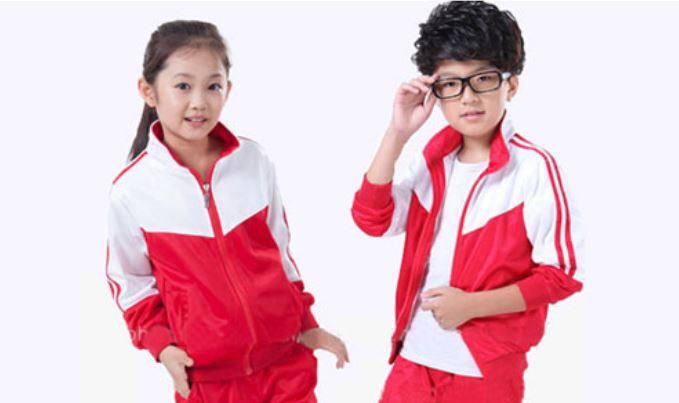 Áo khoác đỏ- trắng cho bé