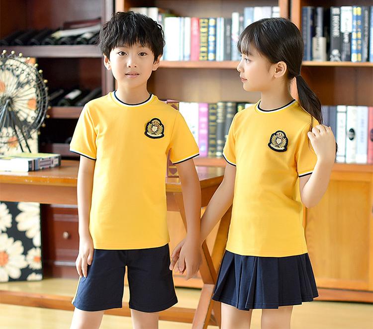 Áo phông cổ tròn - Đồng phục học sinh mầm non