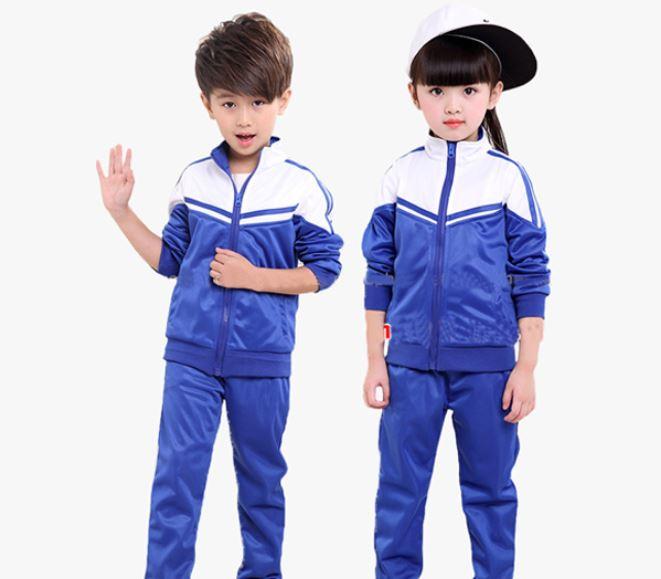 Áo khoác màu xanh đồng phục cho bé mầm non