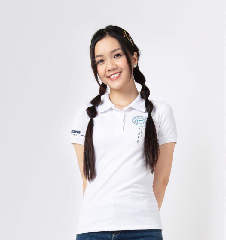 Mẫu áo thun trắng học sinh nữ cấp 3