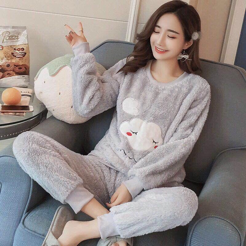 Bộ đồ mặc nhà mùa đông ấm áp