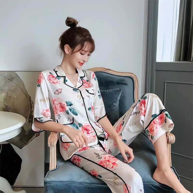 Đồ bộ nữ mặc nhà tại Bắc Ninh hoạ tiết