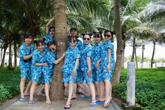 Bộ pijama đi biển theo nhóm lớp