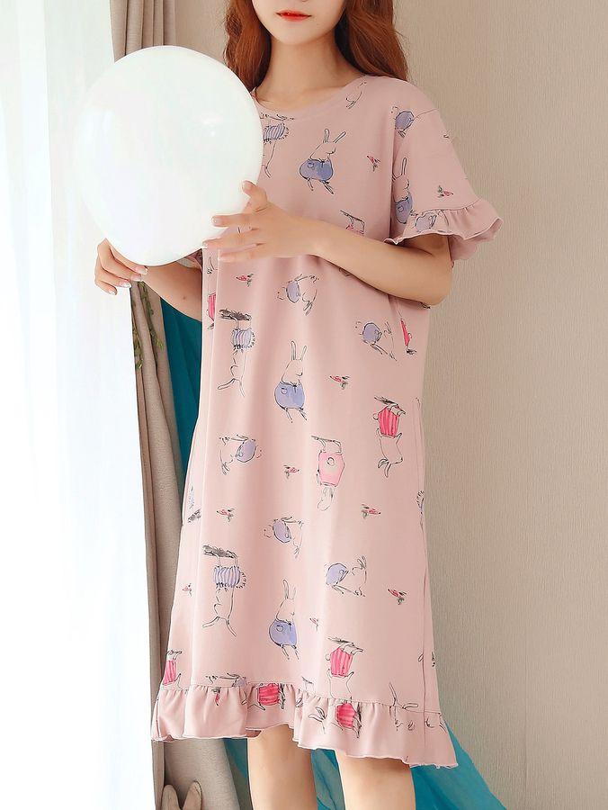 Đồ bộ váy đầm - Kiểu đồ bộ mặc nhà dễ thương