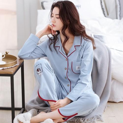 Đồ bộ mặc nhà nữ tại Bắc Ninh màu xanh nhạt