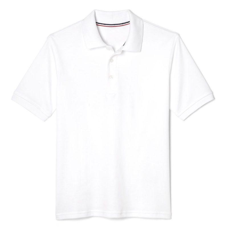 áo thun có cổ màu trắng trơn
