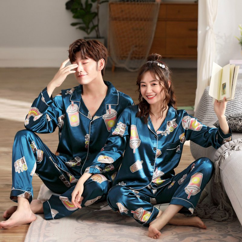 Bộ đồ mặc nhà pijama lụa satin đẹp- xưởng may pijama lụa satin