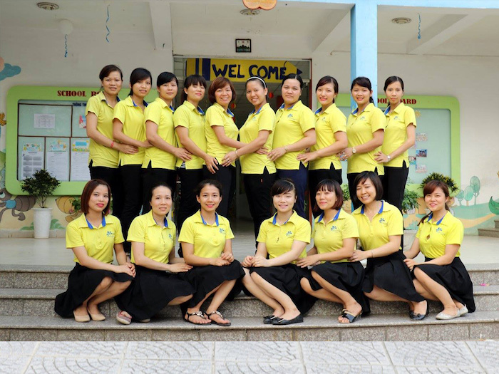 Đồng phục giáo viên mầm non tại Bắc Ninh đẹp