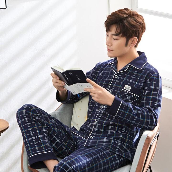 Kiểu Pijama nam vải kẻ sọc đẹp