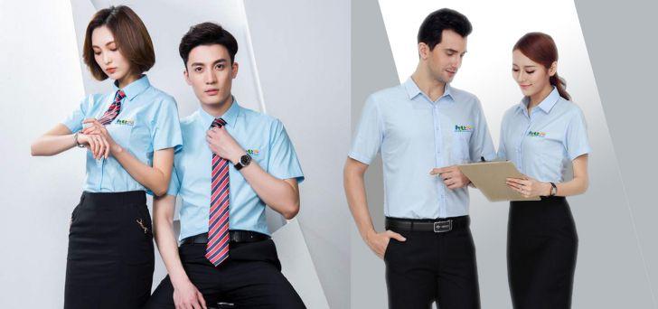Mẫu áo sơ mi đồng phục công ty đẹp