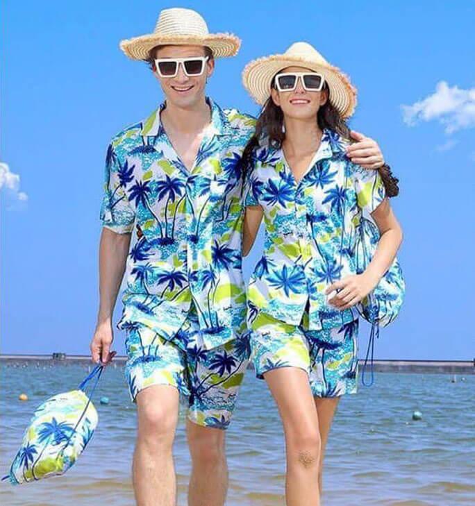 Pijama đi biển cặp đôi