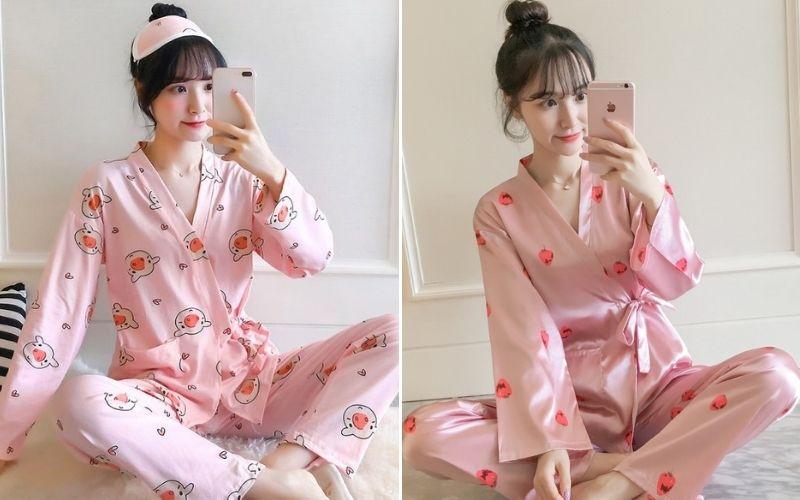 Xinh xắn với kimono dáng dài
