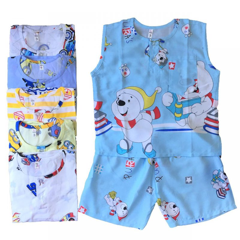 Các mẫu trang phục ngủ cộc tay