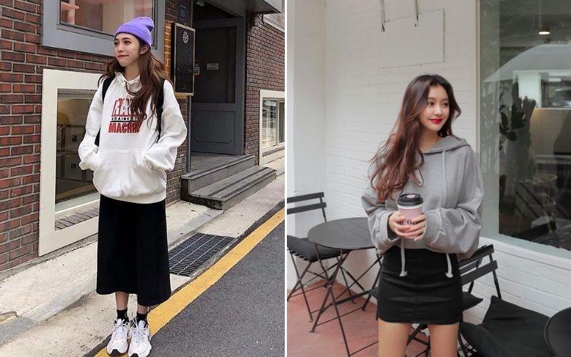 Áo hoodie kết hợp với gì là đẹp