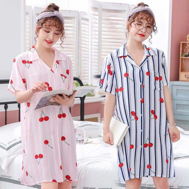 Áo đầm ngủ vải tole dạng sơ mi
