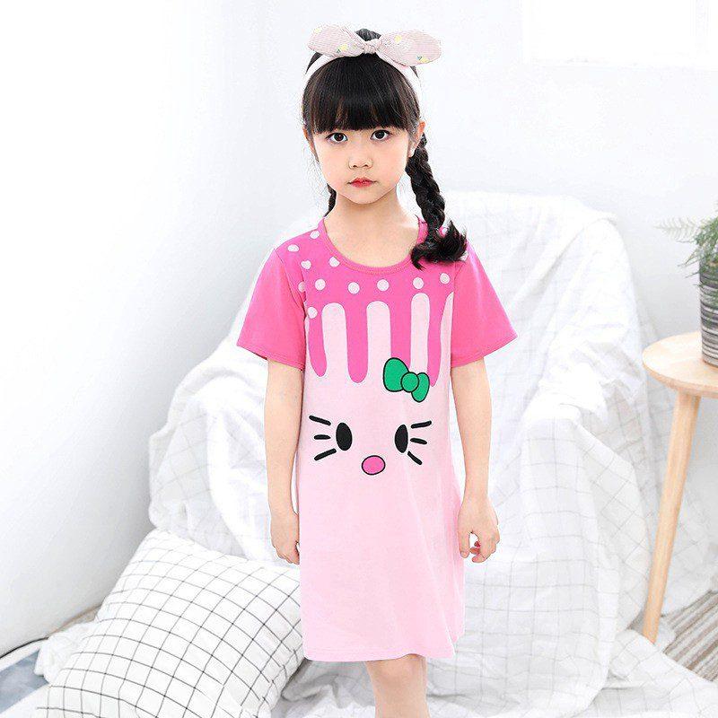 Mẫu đồ bộ mặc nhà cho bé gái 10 tuổi dễ thương