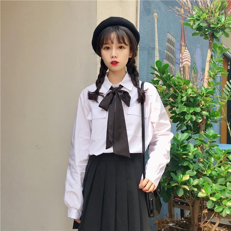 Mẫu áo sơ mi học sinh nữ cấp 3 đẹp