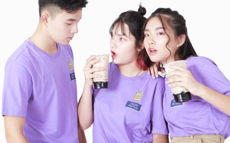 áo lớp màu tím pastel