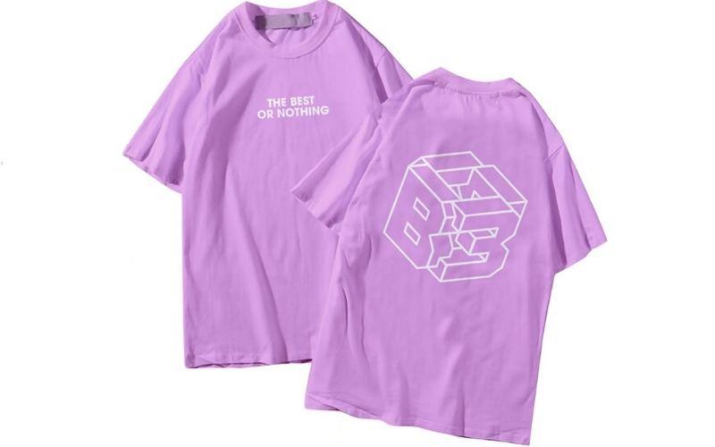 áo đồng phục lớp màu tím thanos đơn giản