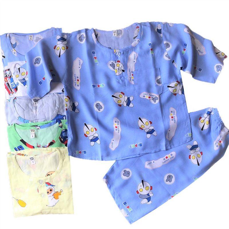 Những bộ đồ vải tôn mặc nhà cho bé trai