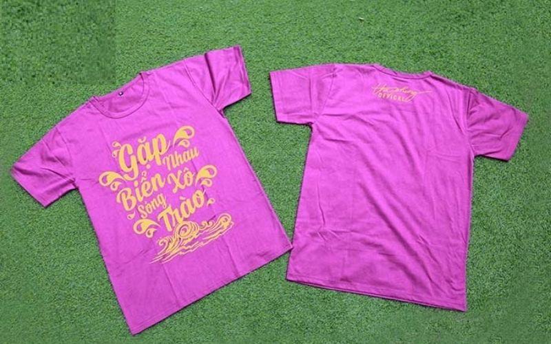 Các mẫu áo lớp màu tím