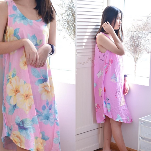 Mẫu váy vải tôn mặc nhà