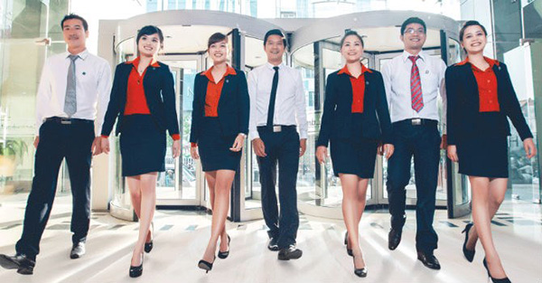 Đồng phục ngân hàng Sacombank