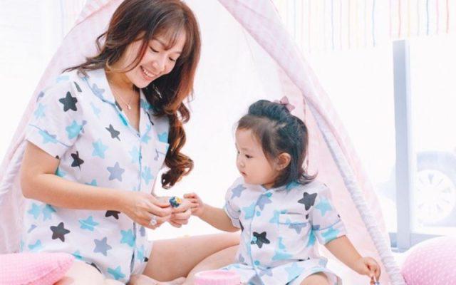 pijama đôi mẹ và bé