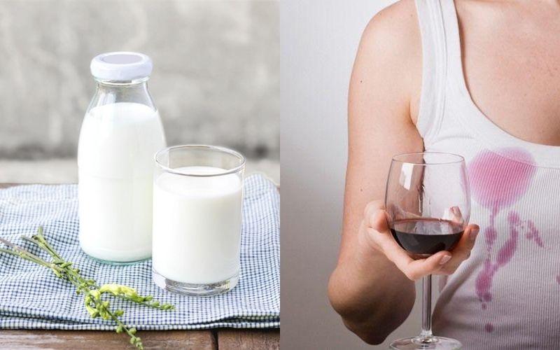 Cách tẩy áo trắng bị ngả màu bằng sữa