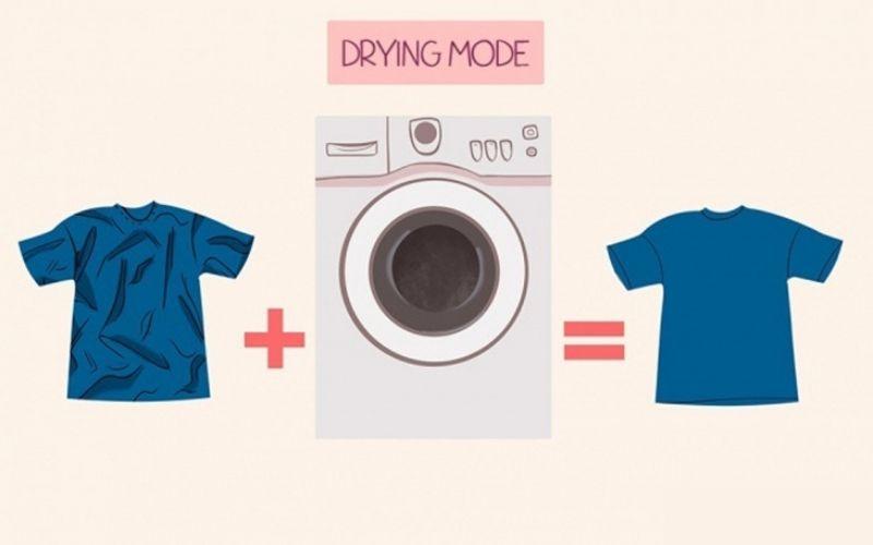 Cách làm phẳng quần áo bằng máy giặt