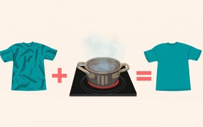 Cách làm phẳng quần áo nồi chảo