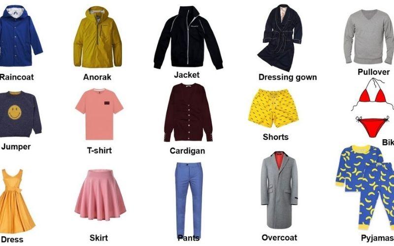 Các loại quần áo bằng tiếng anh