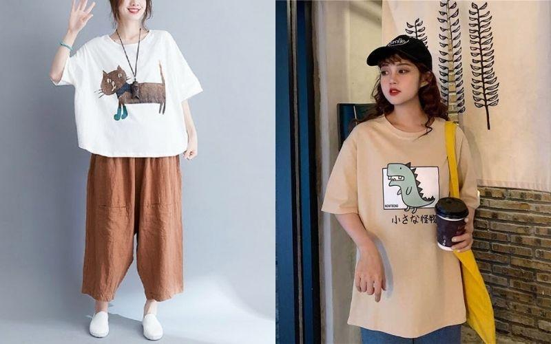 Các cách phối đồ với áo freesize