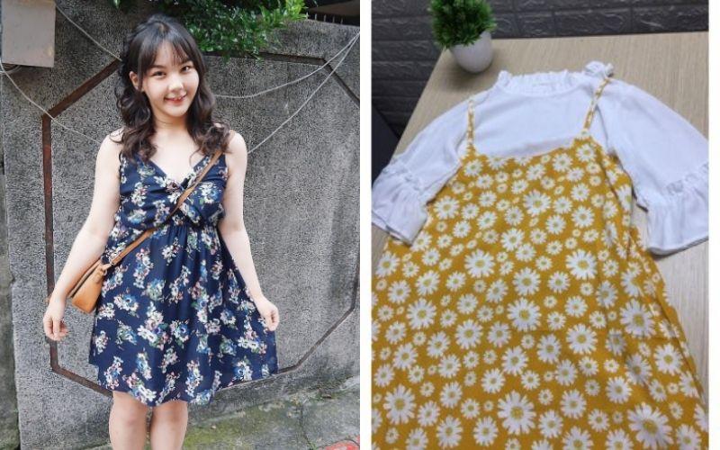 Váy yến in hoa - Kiểu quần áo cho người mập