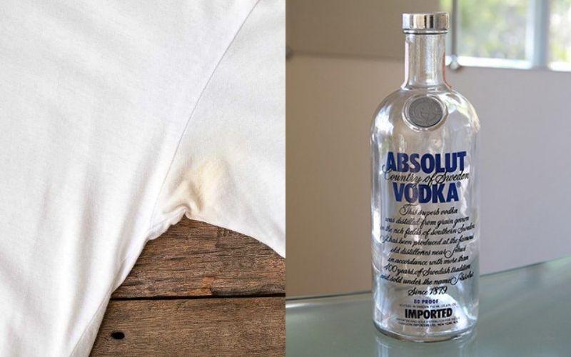 Cách tẩy áo trắng bị dính màu bằng rượu vodka trắng