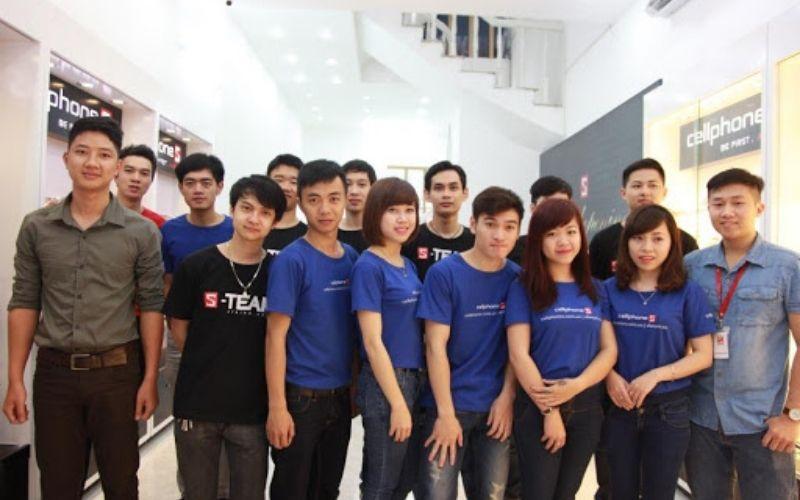 Đồng phục nhân viên bán hàng màu xanh biển