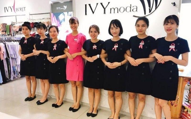 Mẫu đồng phục nhân viên bán hàng thương hiệu thời trang Lvy Moda